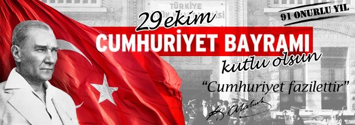 Belediye Başkanımız Hasan Kara` dan Cumhuriyet Bayramı Mesajı